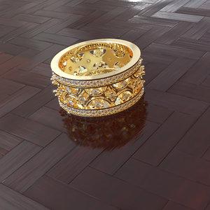 diamond brand ring 3D model