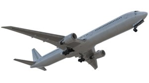 3D plane jet airliner