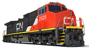 3D canadian national locomotive model