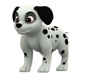 3D model dalmatian puppy