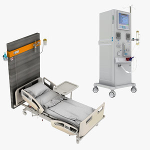 hospital bed dialysis machine 3D model
