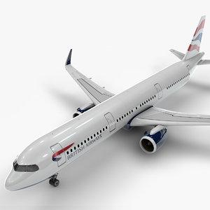 3D a321 neo british airways