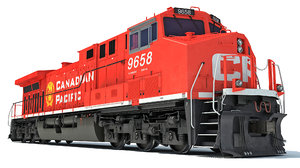 locomotive canadian pacific 3D model