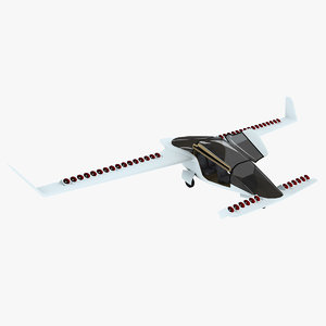 3D model electric aircraft air