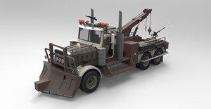 truck tow towtruck 3D model