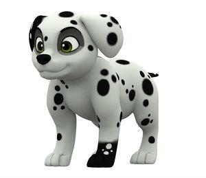 3D dalmatian puppy
