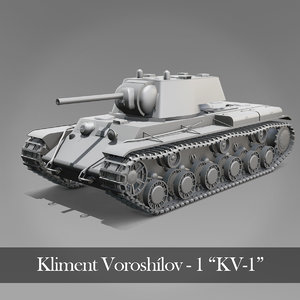 kv tank kliment kv-1 3D model