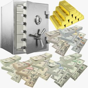 3D dollars safe v3 money