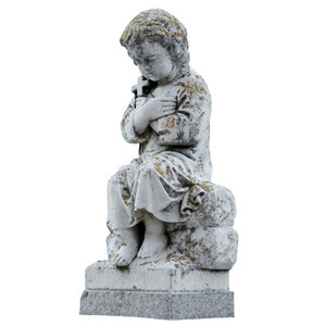 3D cemetery statue