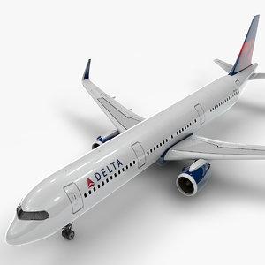 a321 neo delta airlines 3D model