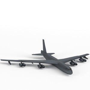3d model b-52 stratofortress