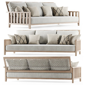 3D sofa garden three-seater