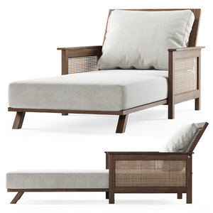 3D wooden daybed