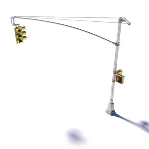 3D new street lamp traffic light