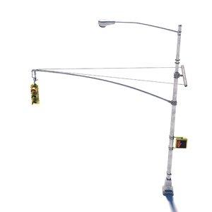 3D model new street lamp traffic light