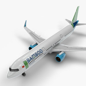 a321 neo bamboo airways 3D model