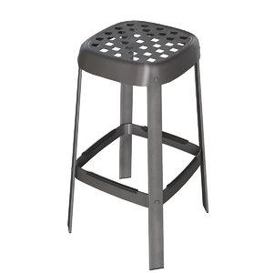 connubia cb1958 industrial stool 3D model
