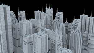 3D pack skycrapers city