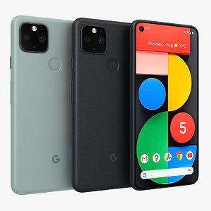 3D model google pixel 5 color