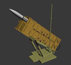 3D missile launcher model