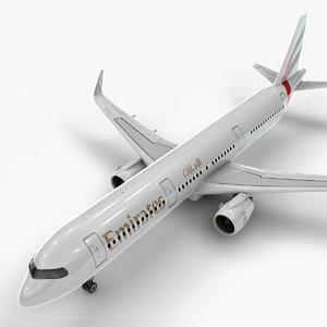 3D a321 neo emirates l1016