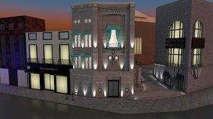 building structure shopping center 3D model