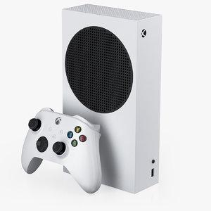 3D x-box series s console model