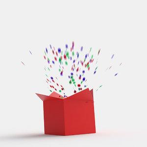 gift box animation 3D model