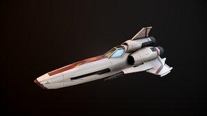 battlestar galactica viper mk 3D model