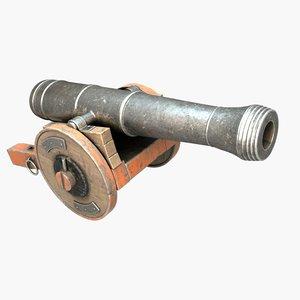 ancient cannon 3D model