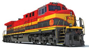 3D locomotive kansas city southern