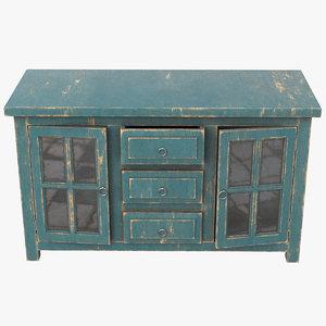 3D pbr drawers model