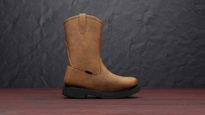 3D wellington boot model
