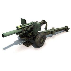 cannon m114 3D model