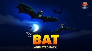 3D cartoon bat animations pack
