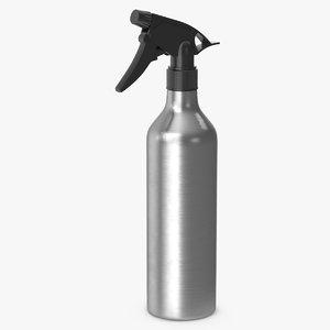 aluminum spray bottle 3D model