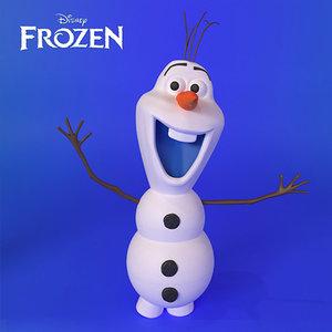 3D frozen olaf
