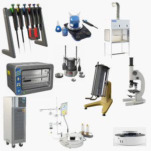 3D laboratory devices lab equipment model