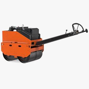 construction machine double roller 3D