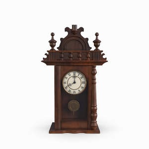 antique clock old 3D model