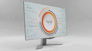 modeled monitor 3D model
