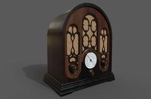 3D radio vintage model