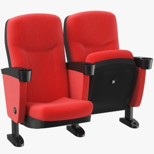 3D model real theater chair