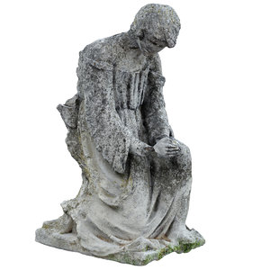 3D cemetery statue scan