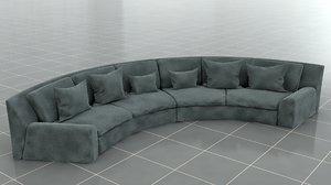 sofa arflex 3D model