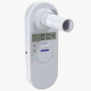 medical carbon monoxide breath 3D model
