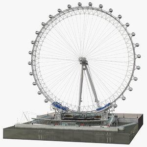 3D model observation ferris wheel