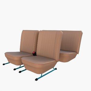 3D generic car seats model