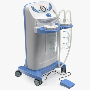 3D electric surgical suction pump model