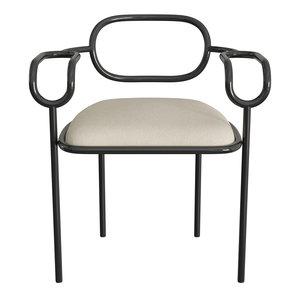 3D model shiro sedia 01 chair